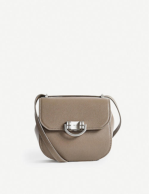REISS: Lexi mini leather cross-body bag