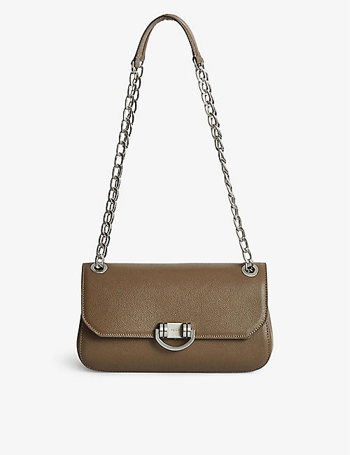 REISS: Lexi leather shoulder bag