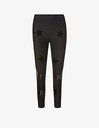 ULTRACOR: Ultra Lux star-print high-rise sports-jersey leggings