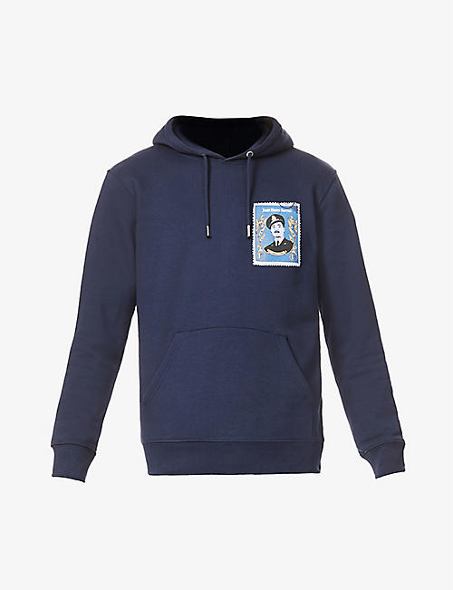 LABRUM LONDON: Stamp John Henry Smythe graphic-print organic-cotton and recycled-polyester hoody