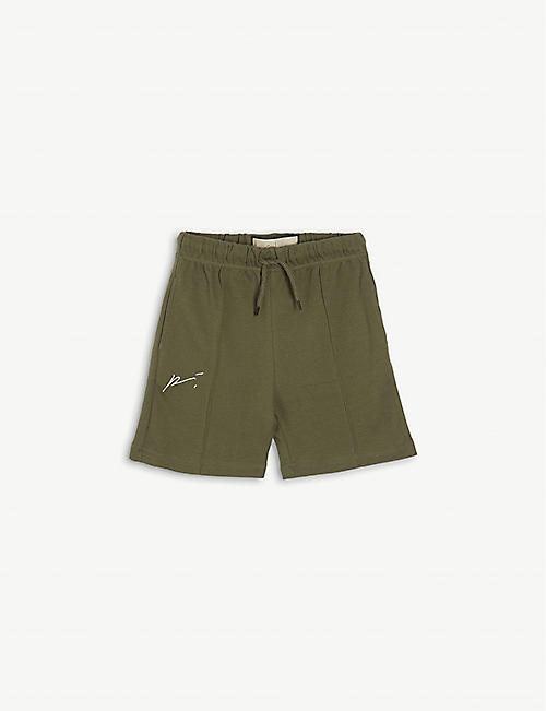 PREVU: Signature drawstring-waistband cotton-jersey shorts 4-14 years