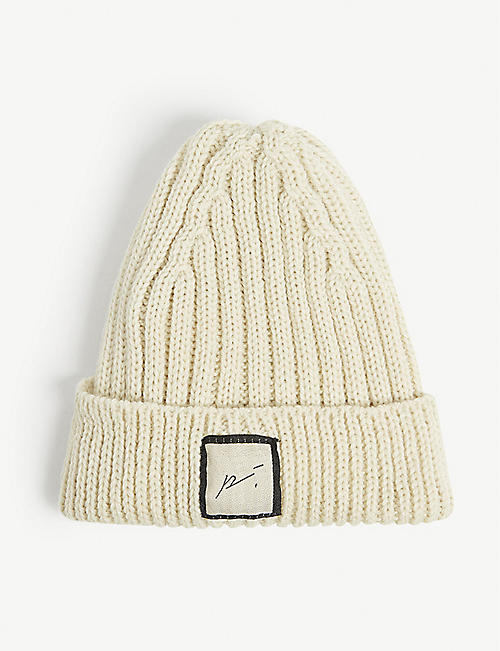PREVU: Kids logo-embossed wool beanie