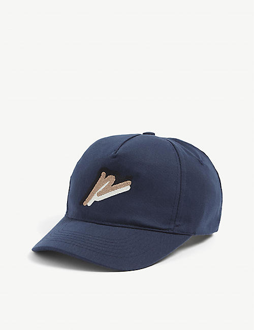 PREVU: Kids logo-embroidered woven cap