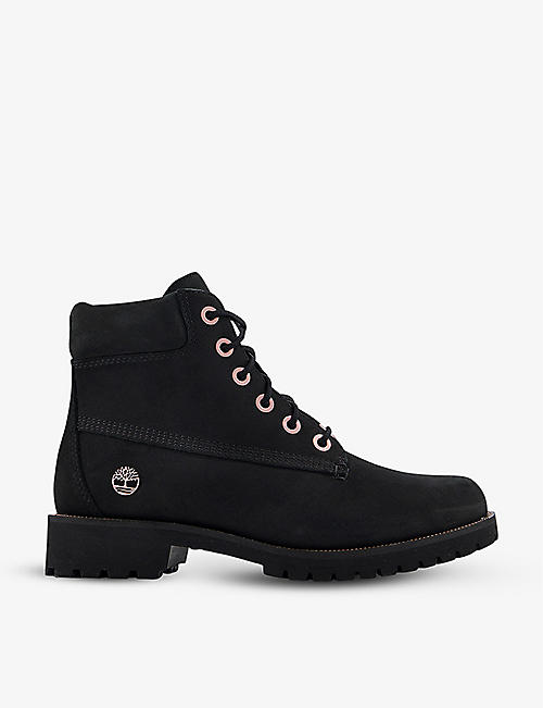 TIMBERLAND: Slim Premium 6 Inch nubuck leather ankle boots