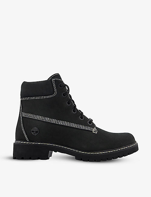 TIMBERLAND: Slim Premium 6 Inch contrast-stitching nubuck leather ankle boots