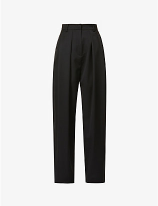 MAGDA BUTRYM: Relaxed straight-leg high-rise wool trousers