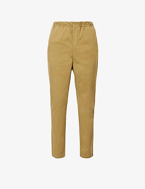 7 FOR ALL MANKIND: Mid-rise cotton-blend jogging bottoms