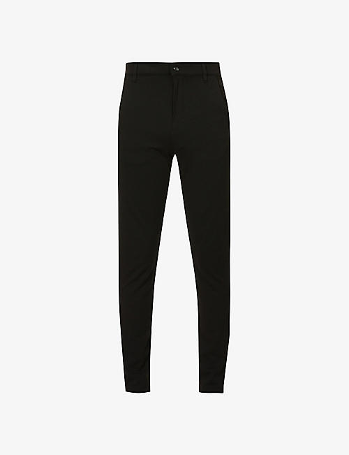 7 FOR ALL MANKIND: Travel slim-fit tapered stretch-woven trousers