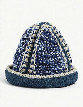NICHOLAS DALEY: Hand-woven cotton-blend crochet bucket hat