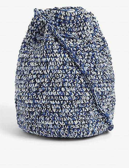 NICHOLAS DALEY: Hand-crotched cotton and jute-blend tote bag