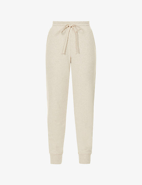 VINCE: Essential tapered cotton-blend jogging bottoms