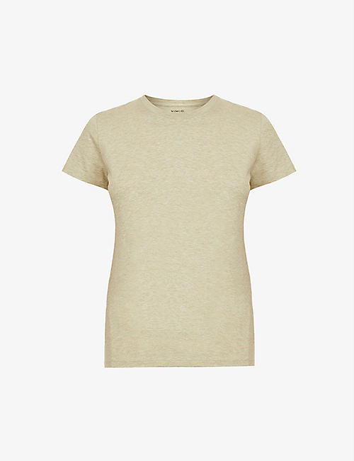 VINCE: Essential scoop-neck cotton-jersey T-shirt