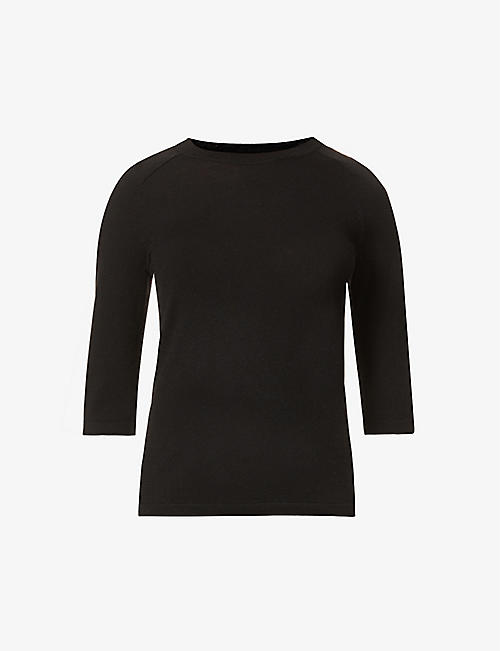 VINCE: Round-neck wool-blend top