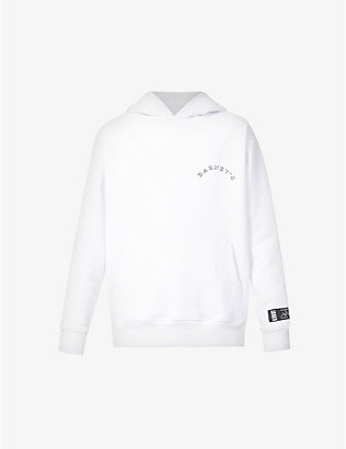 KROST: KROST X Barneys New York Community branded cotton-jersey hoody