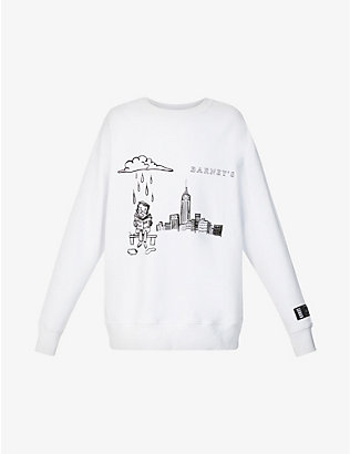 KROST: KROST X Barneys New York Skyline branded cotton-jersey sweatshirt