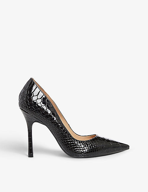 DUNE: Belaire faux-leather heeled courts