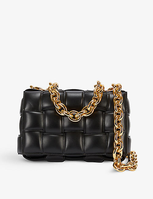 BOTTEGA VENETA: The Chain Cassette intrecciato leather cross-body bag