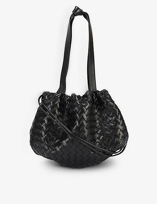 BOTTEGA VENETA: The Small Bulb intrecciato leather shoulder bag