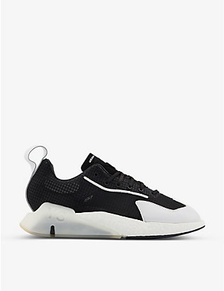 ADIDAS Y3: Orisan suede, leather and mesh trainers