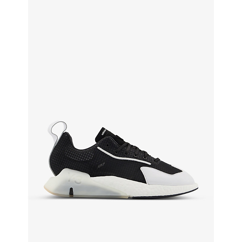 Adidas Y3 Orisan Suede, Leather And Mesh Trainers In Black Core White Ecru Ti