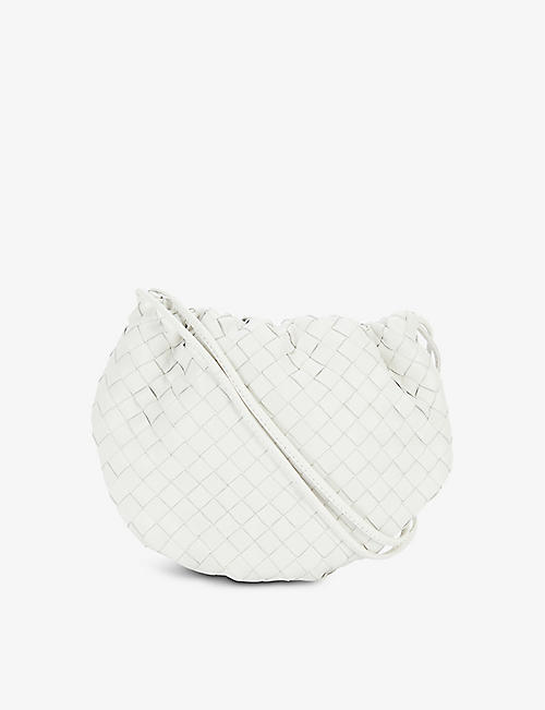 BOTTEGA VENETA: The Mini Bulb intrecciato leather shoulder bag