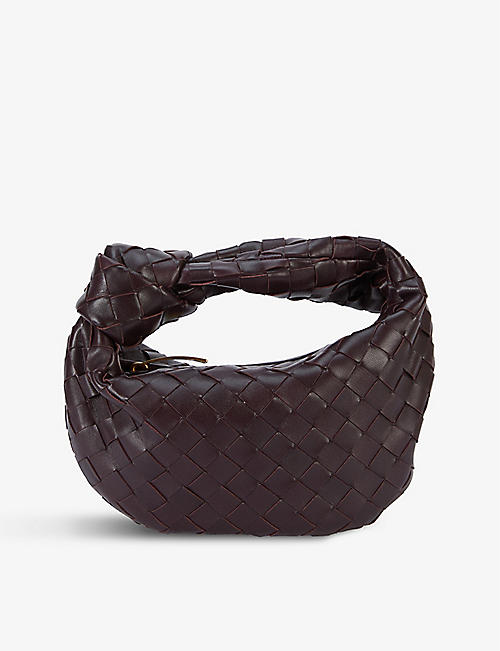 BOTTEGA VENETA: The Mini Jodie intrecciato leather hobo bag