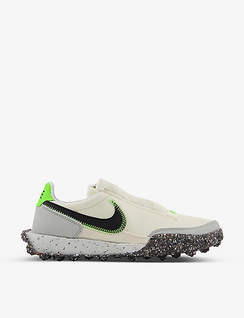 NIKE: Waffle Racer Crater suede and recycled-nylon trainers