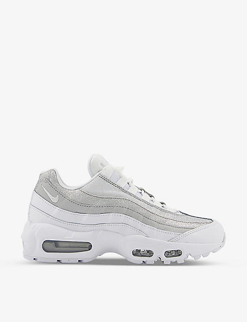 NIKE: Air Max 95 textile and leather trainers