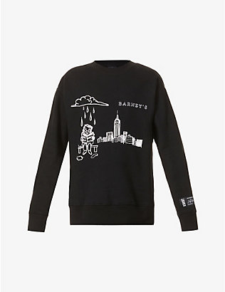 KROST: Krost x Barneys New York Skyline cotton-jersey sweatshirt