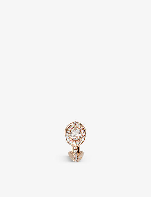 MESSIKA: My Twin 18ct rose-gold and 0.25ct pear-cut diamond single clip earring