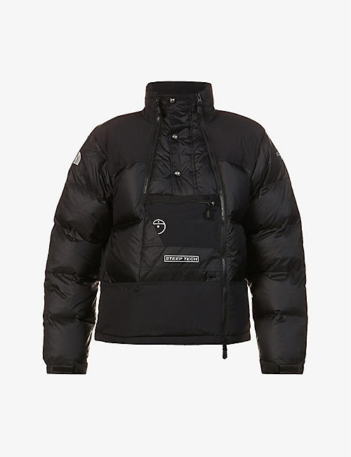 THE NORTH FACE: Steep Tech logo-embroidered shell-down jacket