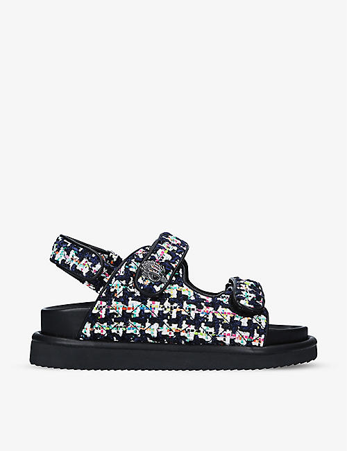 KURT GEIGER LONDON: Orson quilted woven sandals