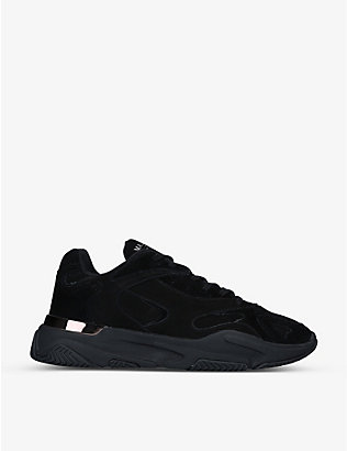 MALLET: Lurus Blackwater suede and nubuck leather trainers
