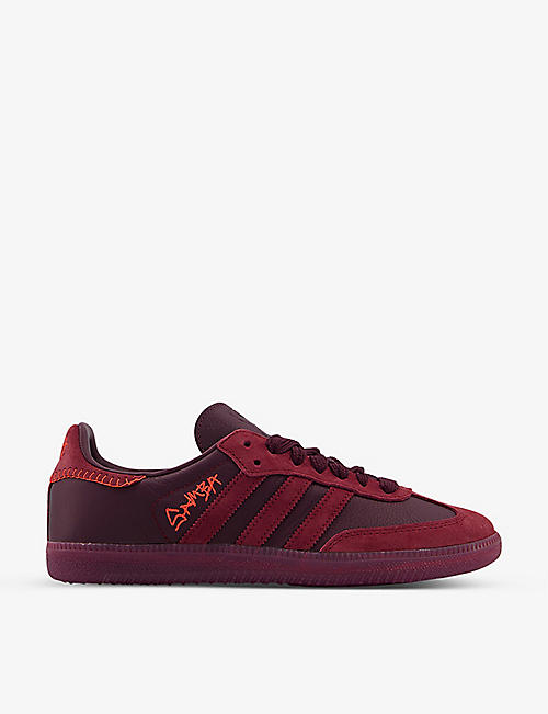 ADIDAS STATEMENT: Jonah Hill Samba leather and suede trainers