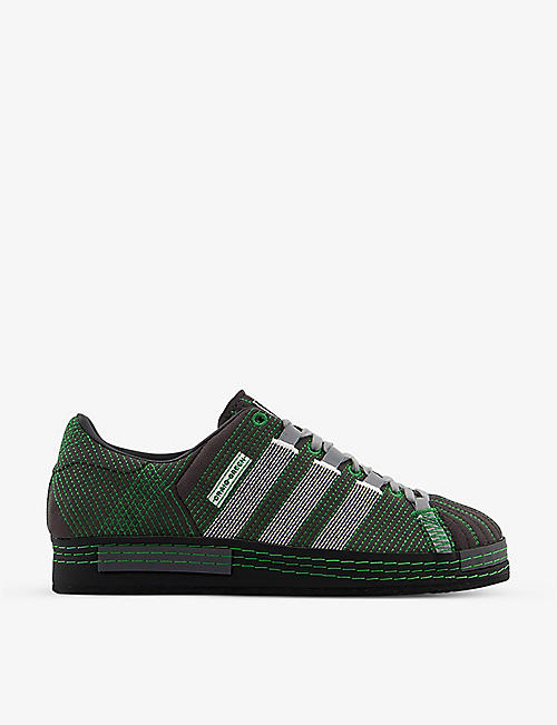 ADIDAS STATEMENT: adidas x Craig Green Superstar embroidered microsuede trainers