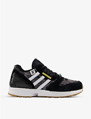 ADIDAS STATEMENT: ZX8000 BAPE x UNDFTD nylon and suede trainers