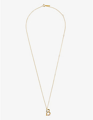 PD PAOLA: B 18ct gold-plated sterling silver necklace