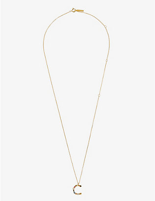 PD PAOLA: C 18ct gold-plated sterling silver necklace