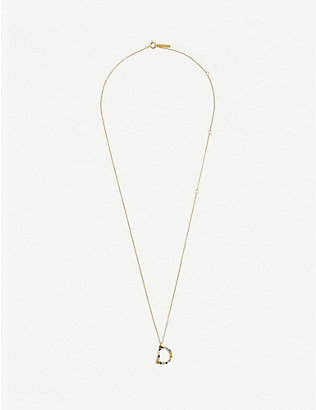 PD PAOLA: D 18ct gold-plated sterling silver necklace