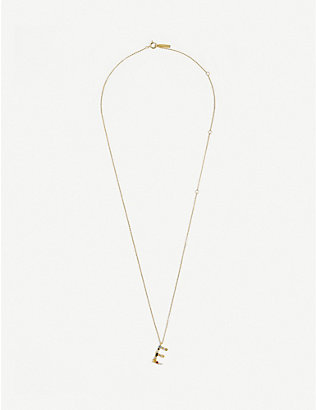 PD PAOLA: E 18ct gold-plated sterling silver necklace