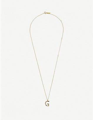 PD PAOLA: G 18ct gold-plated sterling silver necklace
