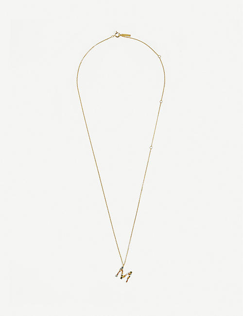 PD PAOLA: M 18ct gold-plated sterling silver necklace
