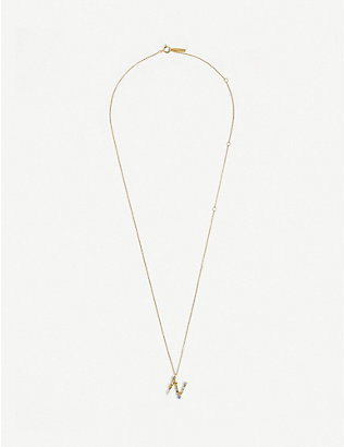 PD PAOLA: N 18ct gold-plated sterling silver necklace
