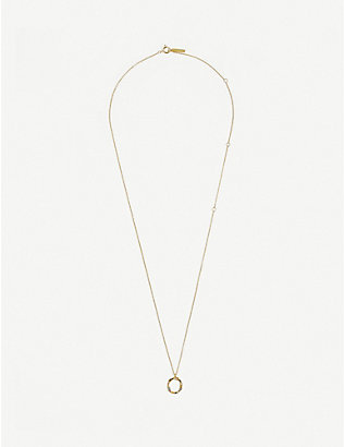 PD PAOLA: O 18ct gold-plated sterling silver necklace