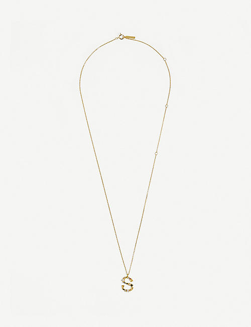 PD PAOLA: S 18ct gold-plated sterling silver necklace