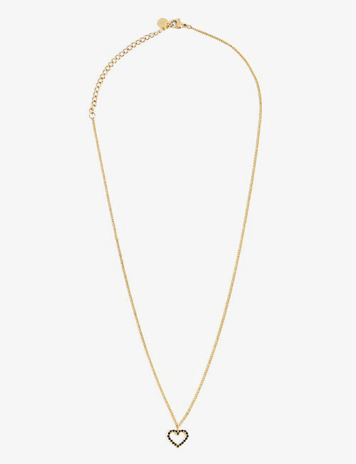 PD PAOLA: Heart 18ct gold-plated sterling silver necklace