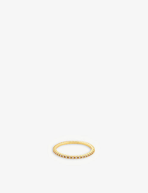 PD PAOLA: White Essential 18ct gold-plated ring