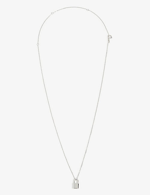 PD PAOLA: Lock sterling silver necklace
