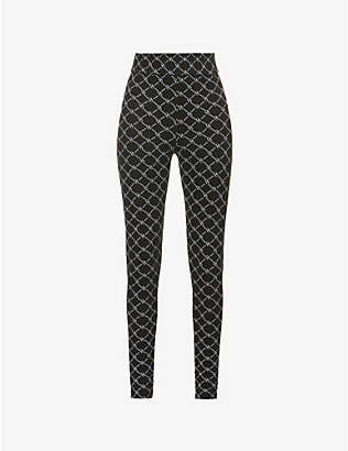 ODOLLS COLLECTION: Monogram-print mid-rise stretch-woven leggings