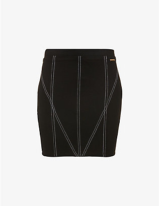 ODOLLS COLLECTION: High-waist fitted stretch-woven mini skirt